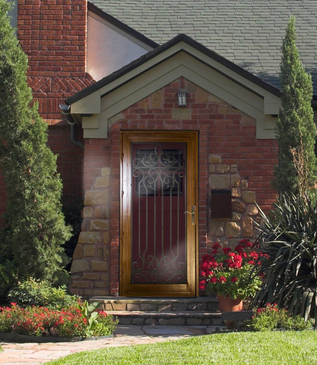 Residential entry storm and security door installation for Unique home solutions indianapolis