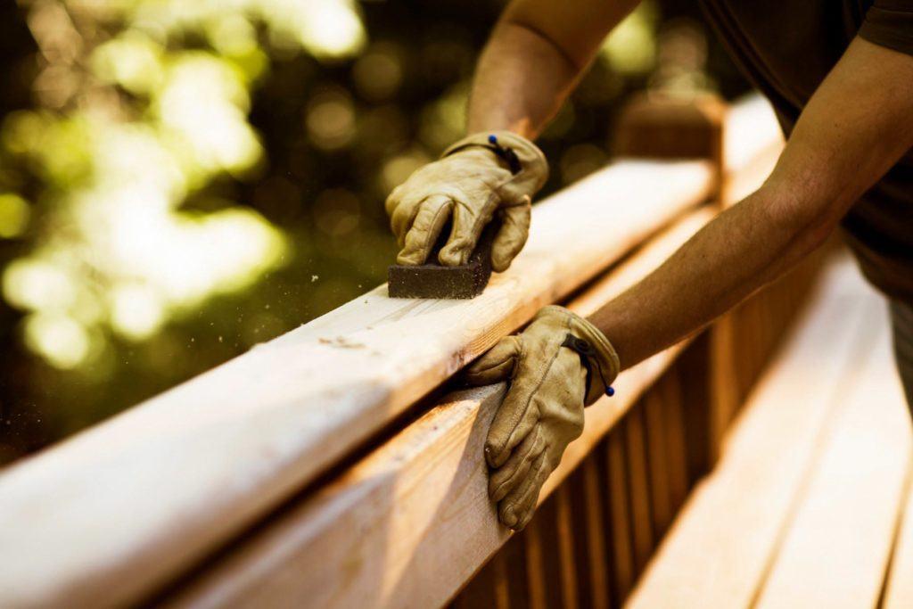 finishing a deck railing
